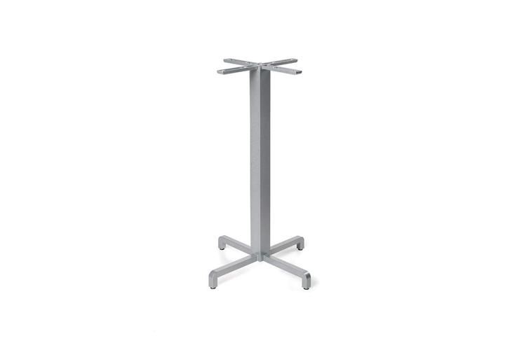 Pie mesa hosteleria aluminio plata Fiore alta