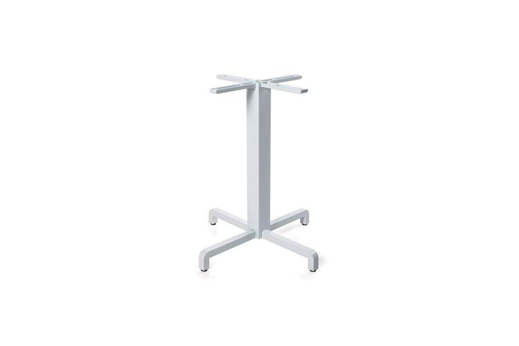 Pie mesa hosteleria aluminio blanco Fiore