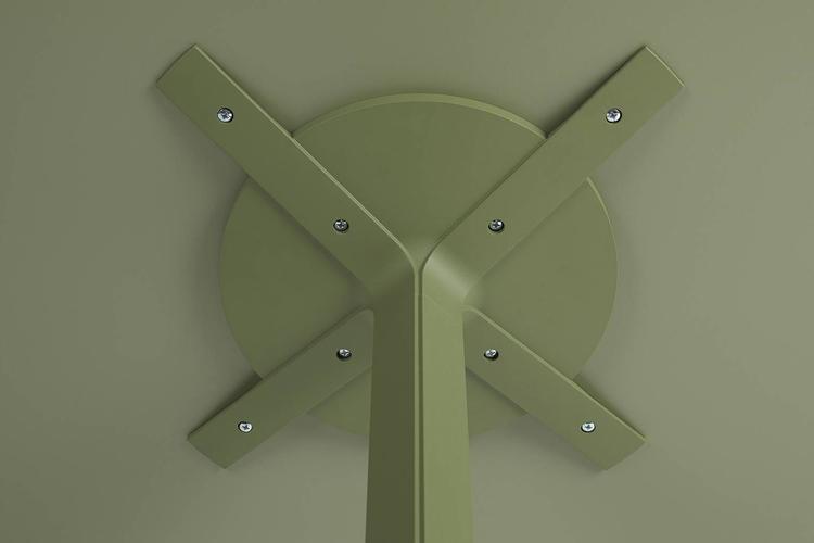 Pie mesa hosteleria aluminio Frasca maxi detalle