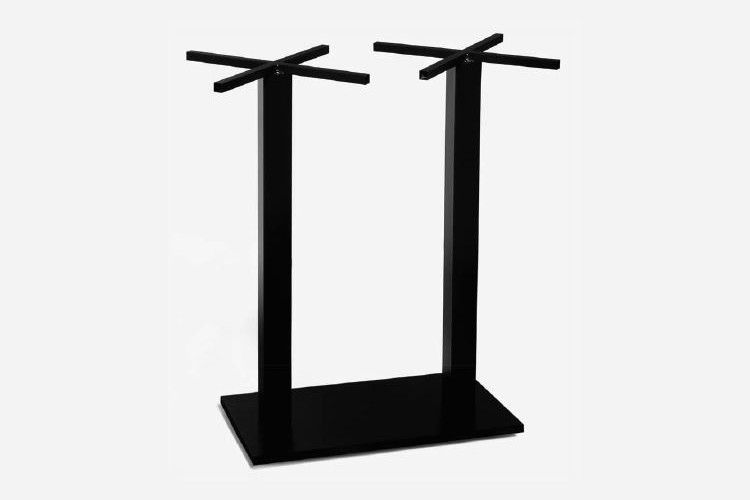 Pie mesa hosteleria acero alto negro Aries