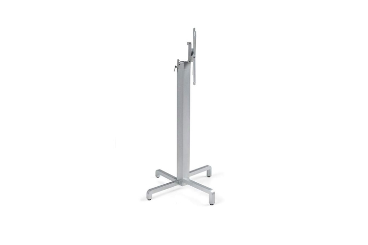 Pie mesa hosteleria aluminio plata Ibisco alta
