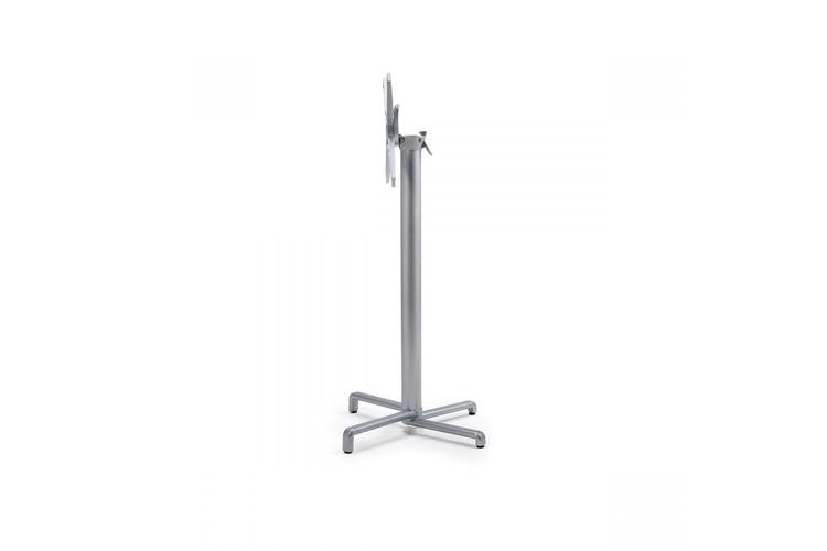 Pie mesa hosteleria aluminio plata Scudo alta