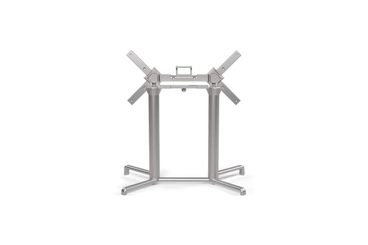 Pie mesa hosteleria aluminio plata Scudo doble