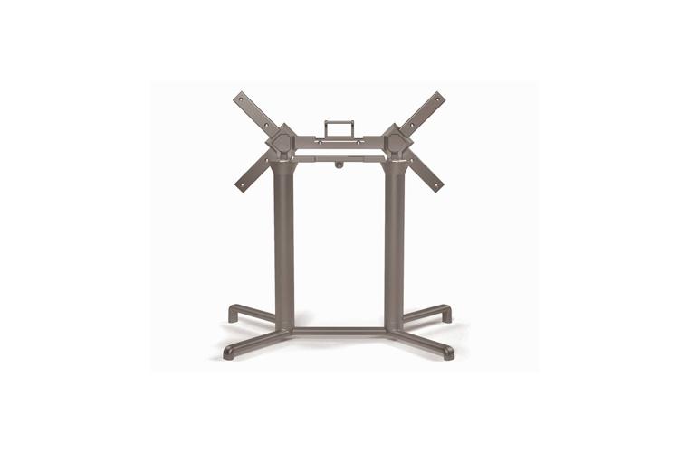 Pie mesa hosteleria aluminio tortora Scudo doble