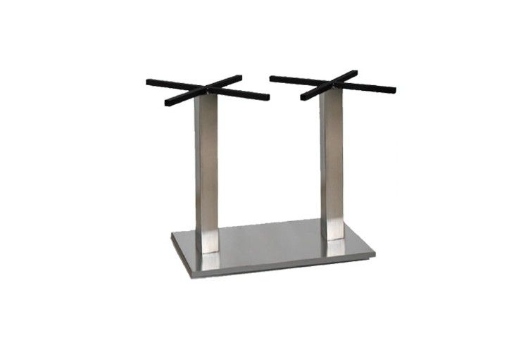 Pie de mesa para hosteleria grande alto Gino acero inoxidable doble