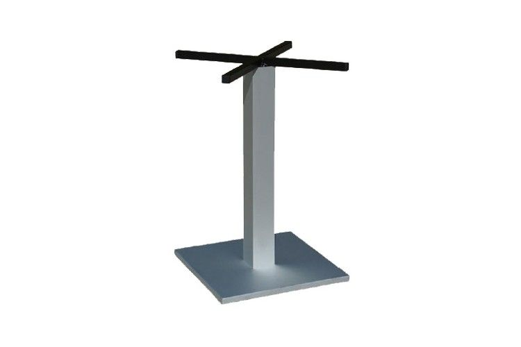 Pie mesa hosteleria aluminio cuadrado Tauro