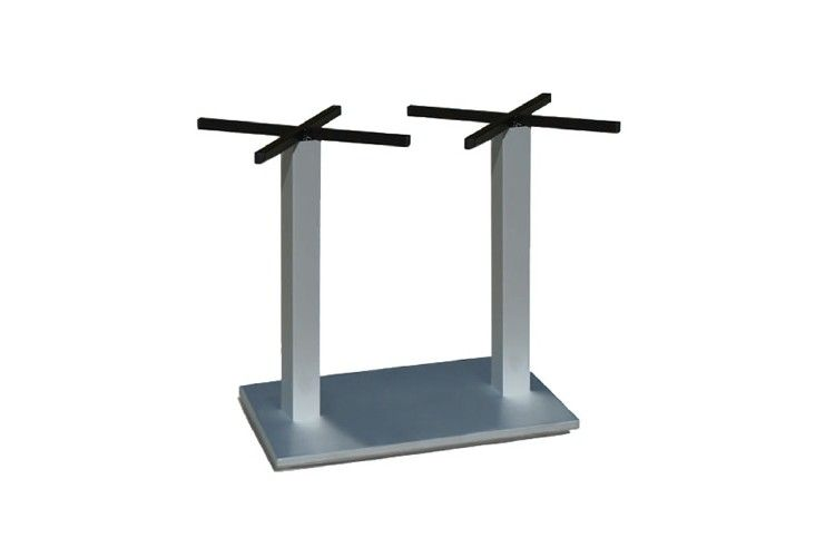 Pie mesa hosteleria aluminio doble Tauro
