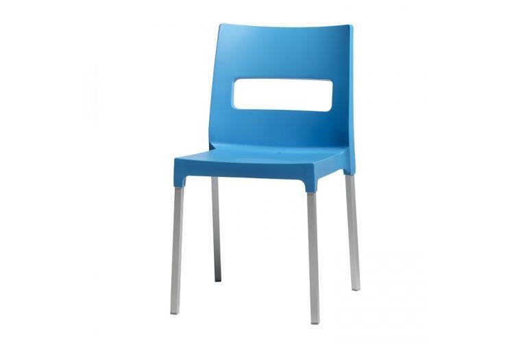 Silla de diseño azul maxi diva