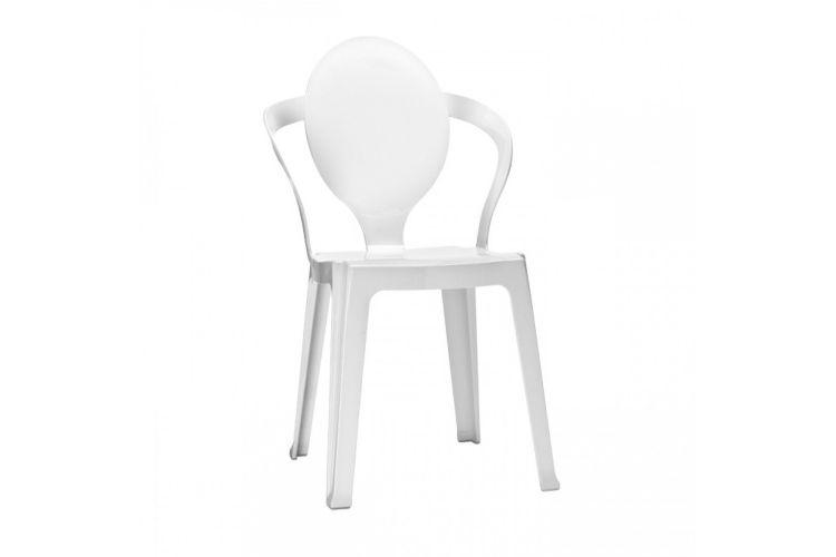 Silla de diseño blanca spoon