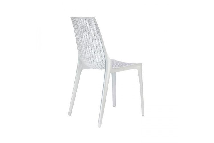 Silla de diseño blanca tricot