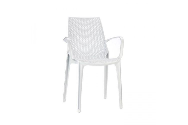 Silla de diseño blanca tricot arm