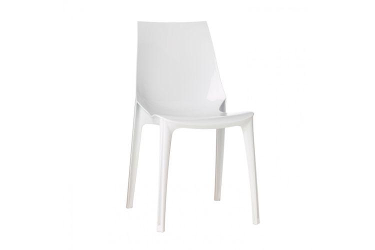 Silla de diseño blanca Vanity