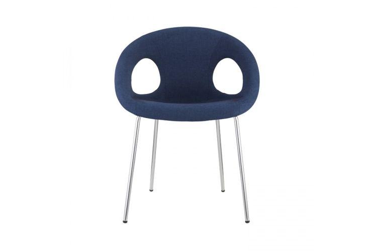 Silla de diseño Drop Pop azul frontal
