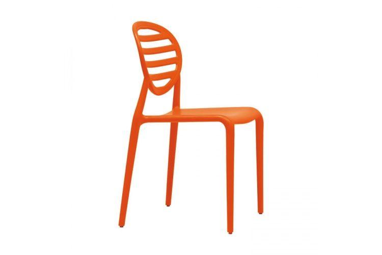 Silla de diseño naranja top gio