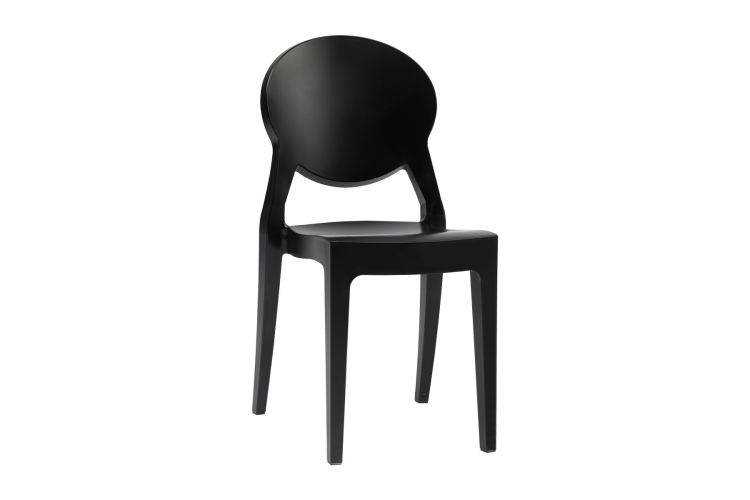 Silla de diseño negra Igloo