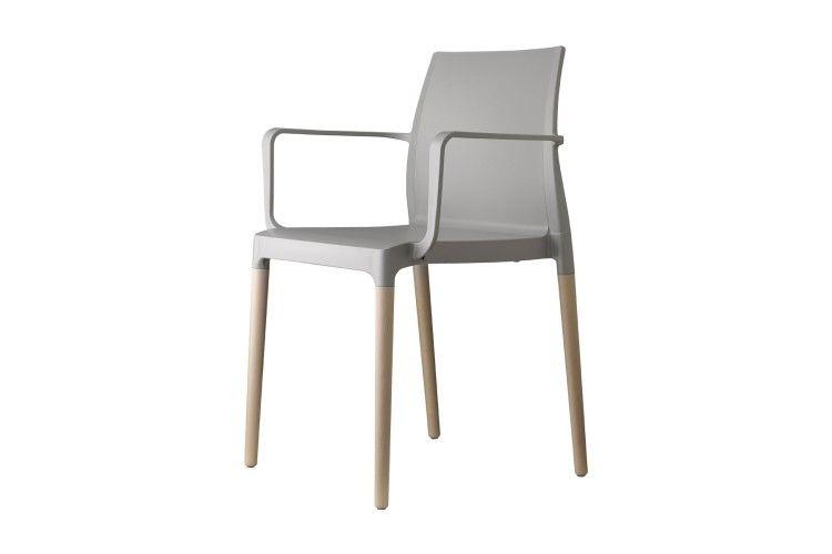 Silla de diseño para hosteleria Natural Chloe gris