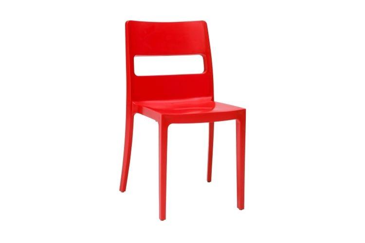 Silla de diseño roja sia