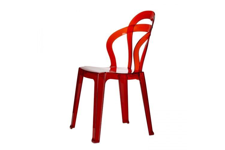 Silla de diseño roja Titi