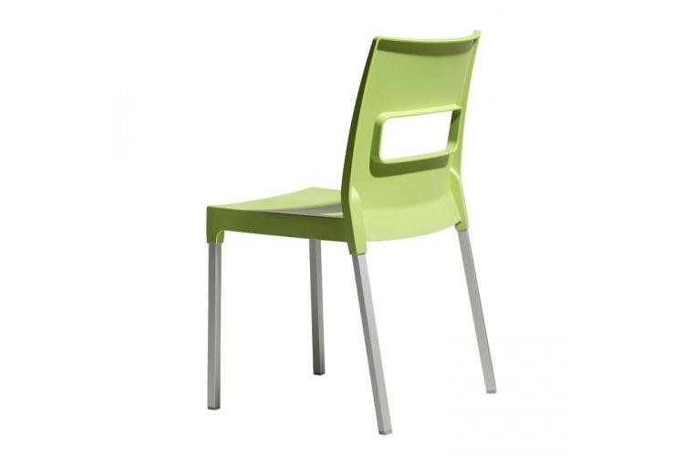 Silla de diseño verde maxi diva