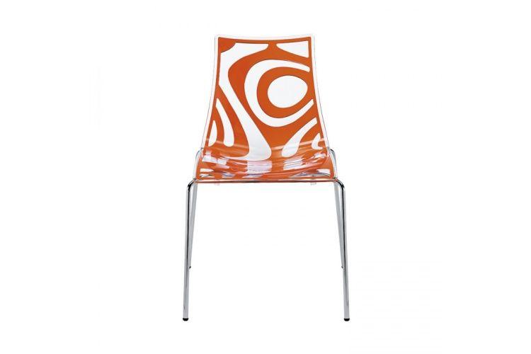 Silla de diseño Wave naranja