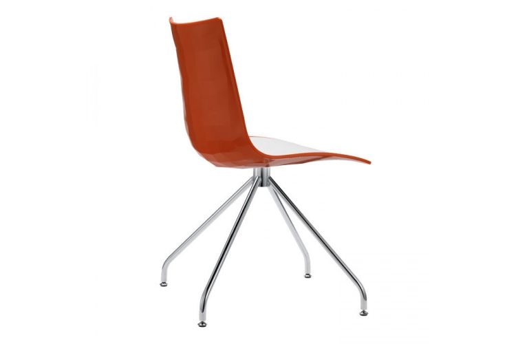 Silla de diseño Zebra Bicolor Giro roja