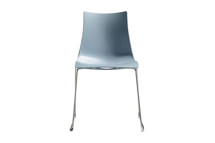 Silla de diseño Zebra Tecno Patin azul