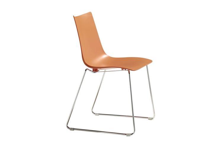 Silla de diseño Zebra Tecno Patin naranja