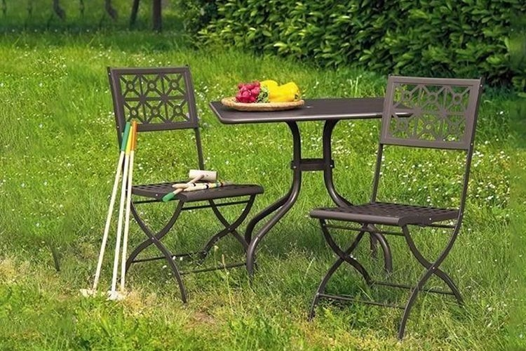 Silla de forja plegable Isotta jardin