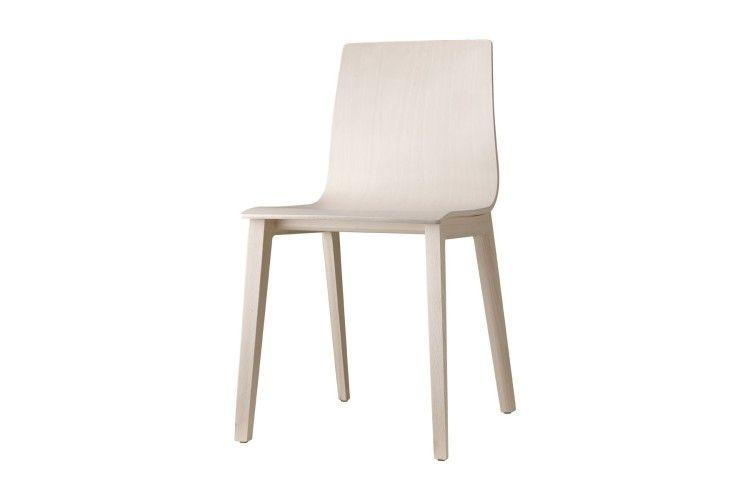 silla de madera hosteleria Smilla haya lateral