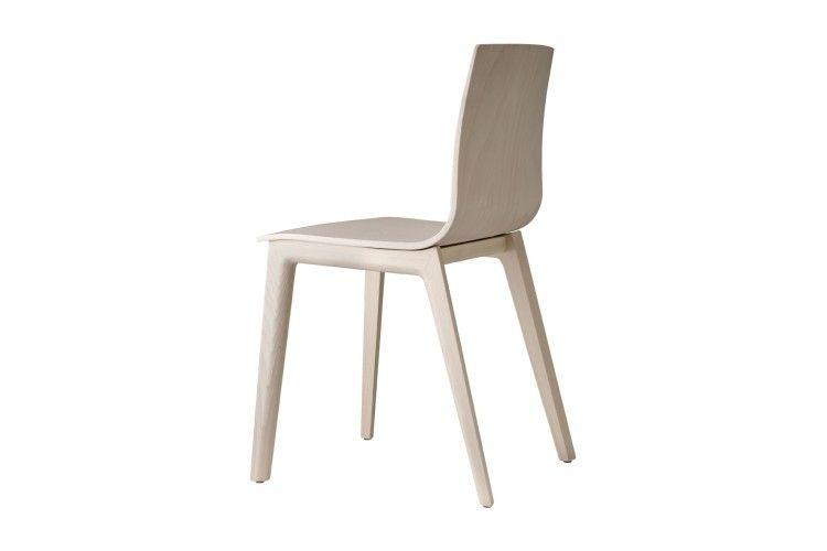 silla de madera hosteleria Smilla haya por detras