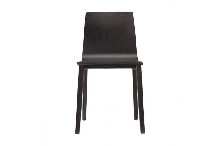 silla de madera hosteleria Smilla wengue