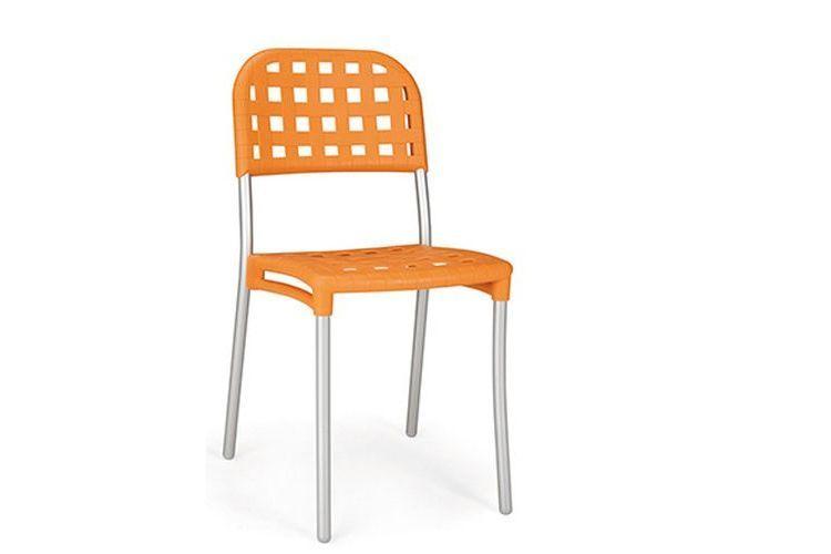 Silla exterior alaska naranja