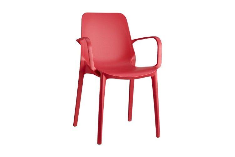 silla hosteleria Ginevra Arms rojo