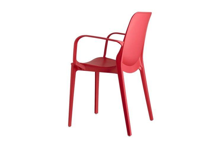 silla hosteleria Ginevra Arms rojo trasero