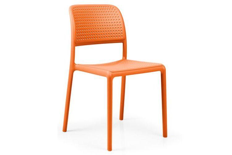 Silla para exterior BORA BISTROT naranja