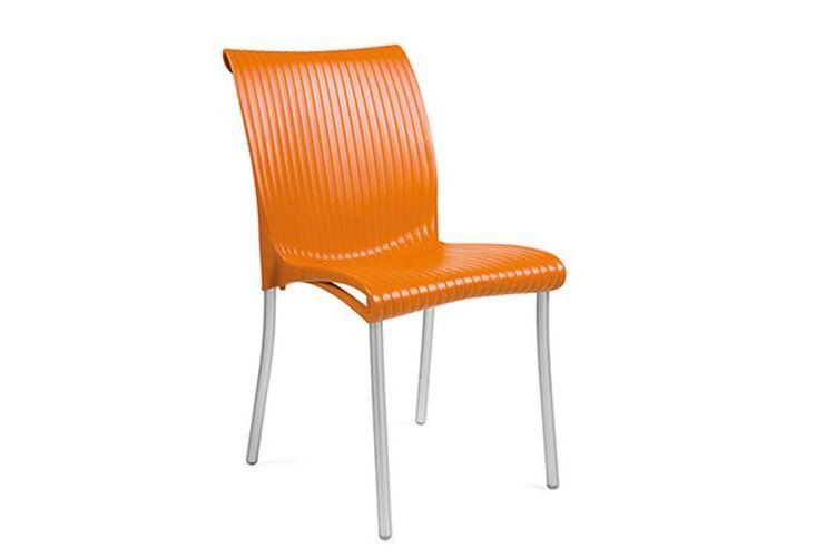 Silla Regina exterior naranja