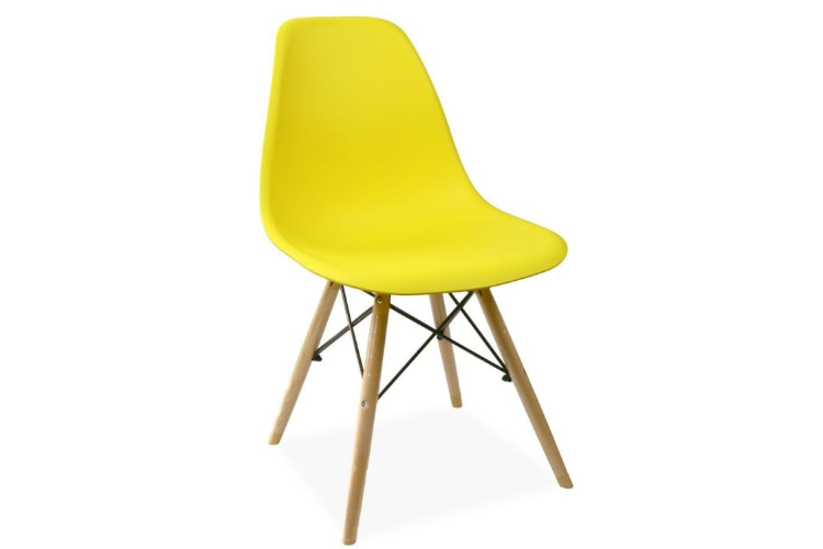 Silla de diseño amarillo torre eiffel