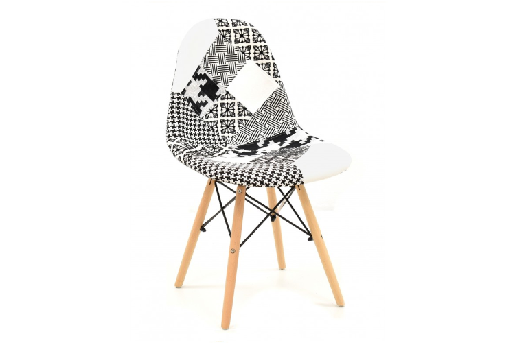 Silla de diseño patchwork blanco y negro torre eiffel