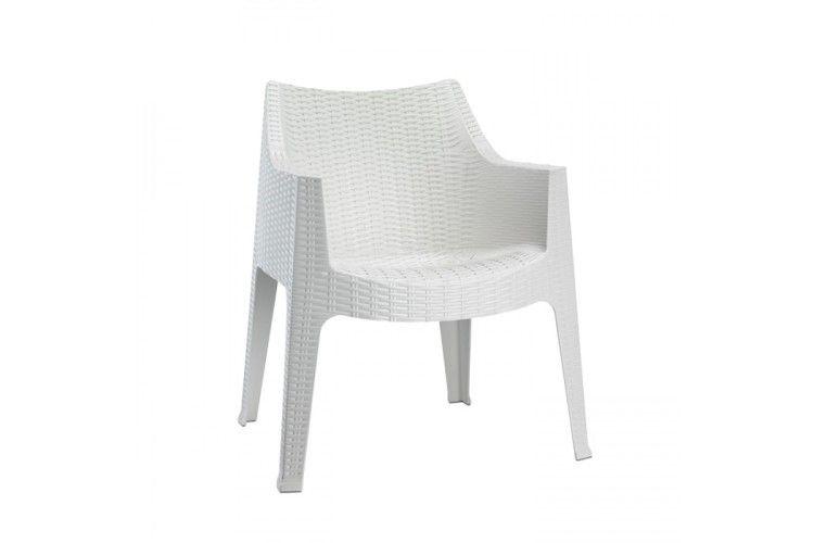 Sillón de diseño blanco Maxima