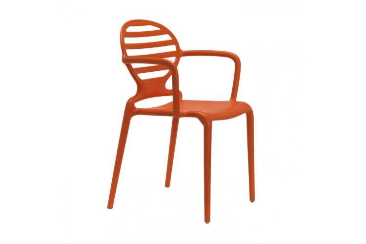 Sillón de diseño naranja Cokka