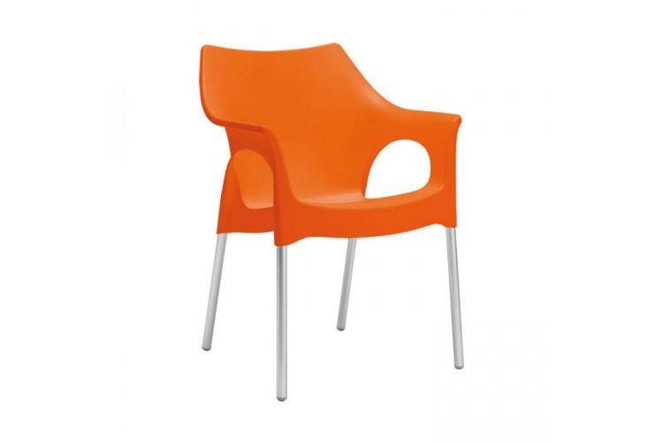 Sillón de diseño naranja ola