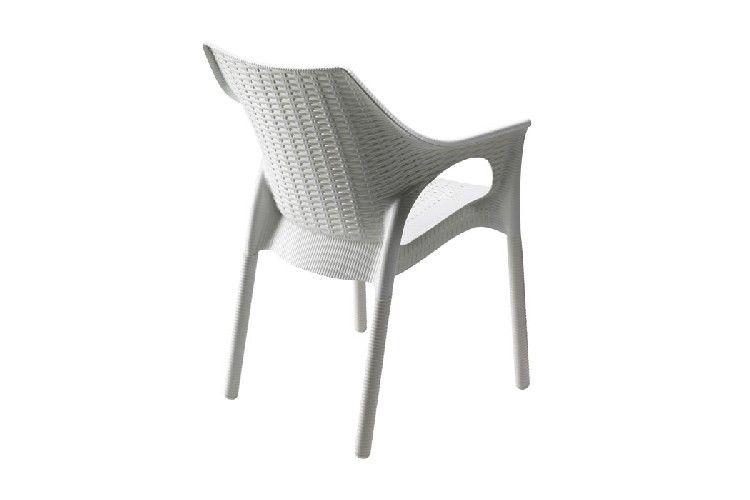 Sillón de diseño Olimpia lino trenzado