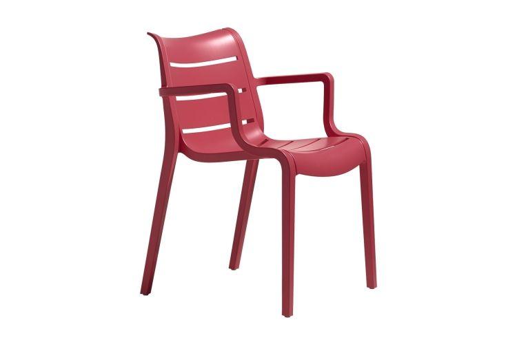 Sillón de diseño rojo suset