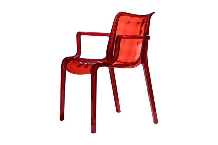 Sillón de diseño transparente rojo extraordinaria