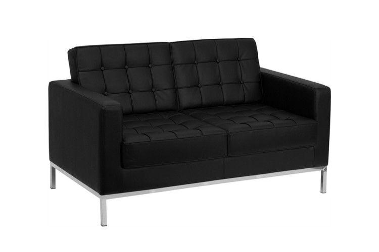sofa 2 plazas hosteleria flor negro