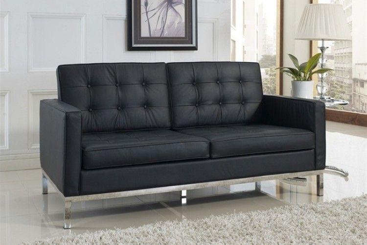 sofa 2 plazas hotel flor negro