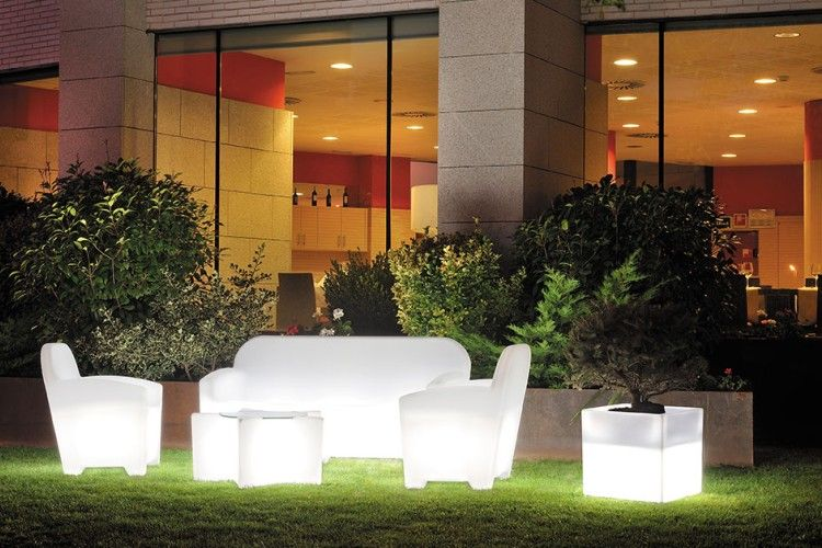 Sofá con luz LED Acapulco