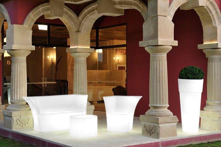Sofá con luz led cairo para hotel
