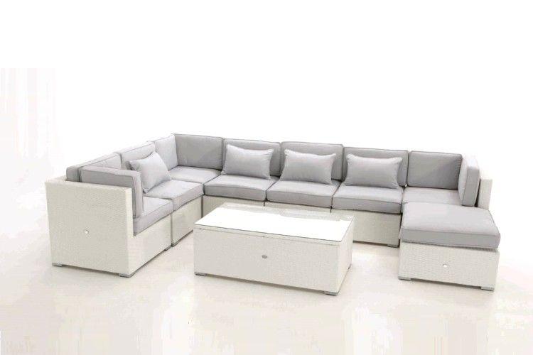 Sofá de rattan blanco Artic