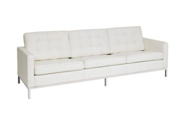 sofa hosteleria 3 plazas similpiel blanca